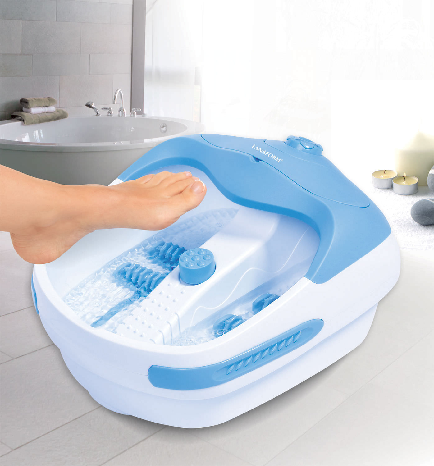 Bồn ngâm chân massage Lanaform Bubble Footcare