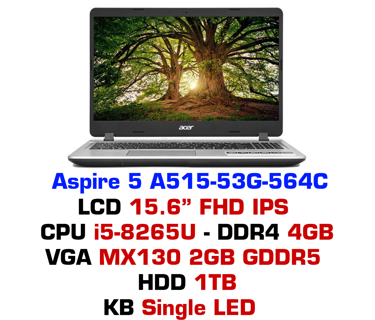 Laptop Acer Aspire AS A515-53G-564C NX.H82SV.001